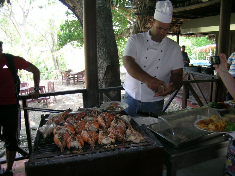 кубинские лангусты на гриле